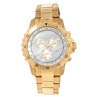 Invicta 14848 Men's Specialty Chronograph MOP Dial Gold Plated Steel Watch