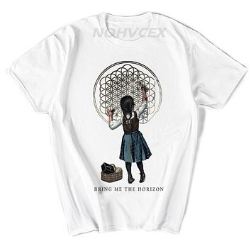 BMTH Music theme Bringing Me The Horizon Heavy metal Digital inkjet printing Character pattern Subject T shirt|t-shirt pattern|heavy metalt-shirt t-shirt