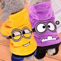Funny Pet Dog Clothes Warm Fleece Costume Soft Puppy Coat Outfit For Dog Clothes For Small Dogs Winter Pet Clothing Hoodie 39S1
