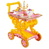 Disney Store Beauty and the Beast Be Our Guest Singing Tea Cart Play Set Belle