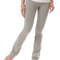 A Pea in the Pod: Fold Over Belly Jersey Knit Roll Waist Fit And Flare Maternity Yoga Pants