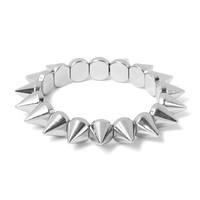 All Spikes Stretch Bracelet    Claire's
