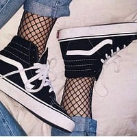 Hot Vans Warm Casual Canvas Shoes Sport Flats Shoes Sneakers high  for girls and boys high quality