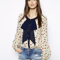 Max C Bold Bow Blouse