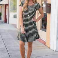 Life To Love Dress, Olive