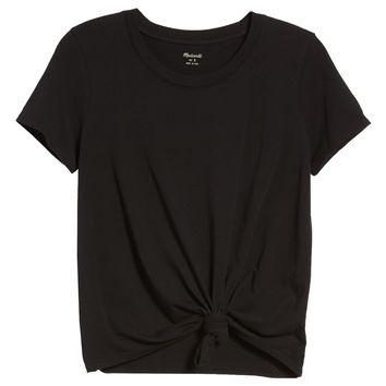 Madewell Knot Front Tee | Nordstrom