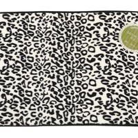 Snow Leopard Faux Fur Bath Mat