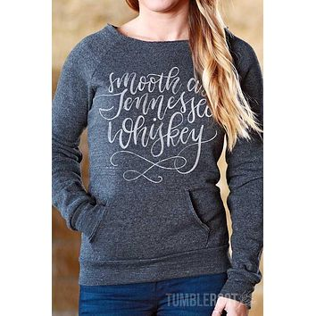 Smooth as Tennessee Whiskey | Off-The-Shoulder Sweatshirt