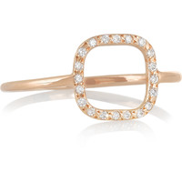 Ileana Makri - Little Square 18-karat rose gold diamond ring
