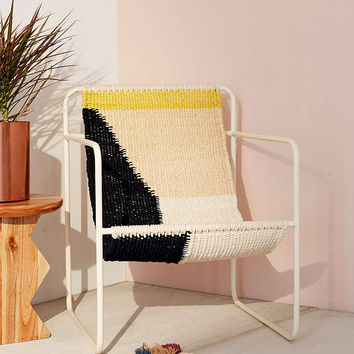 Kimball Colorblock Macrame Sling Chair - Urban Outfitters