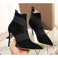 HOT33  Trending Women's men Leather Side Zip Lace-up Ankle Boots Shoes High Boots