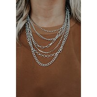 Layers On Layers Necklace: Silver