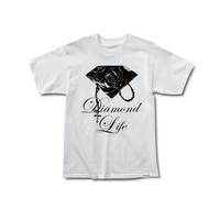 Rose Brilliant Tee in White