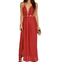 Sale-red Sheer Sexy Maxi Dress