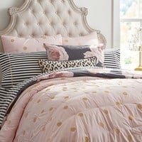 THE EMILY + MERITT GOLD DOT QUILT + SHAM