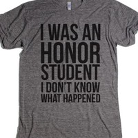 Athletic Grey T-Shirt | Funny Honor Student Shirts