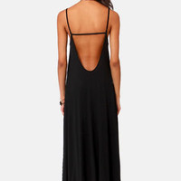 Such Great Heights Black Maxi Dress