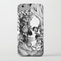Butterfly rose skull with ladybugs. Good luck iPhone & iPod Case by Kristy Patterson Design
