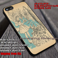 Old Paper Art, Alice In Wonderland, Chesire, Disney Princess, Mad Hater, case/cover for iPhone 4/4s/5/5c/6/6+/6s/6s+ Samsung Galaxy S4/S5/S6/Edge/Edge+ NOTE 3/4/5 #cartoon #anime #alice ii