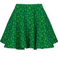 AC Grass Print Skater Skirt XS-3XL from Much Needed Merch