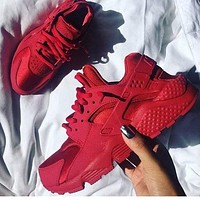 NIKE AIR HUARACHE RUN men and women trend casual sports running shoes F Red