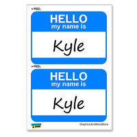 Kyle Hello My Name Is - Sheet of 2 Stickers