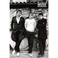 (24x36) Muse Group Standing by Wall Music Poster Print