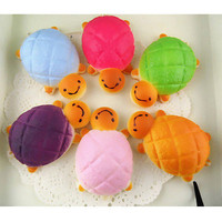 1 pcs Squishy Charms Cellphone Soft Colorful Tortoise Charms Bread Straps CLA