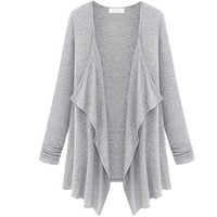 Partiss Womens Middle Long Casual Cardigan