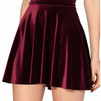 Set Free Velvet Mini Skirt