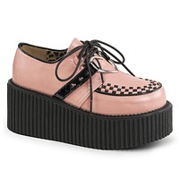 "Creeper 206 Pink 3"" Platform Heart O Ring Oxford Woman's 6-11"