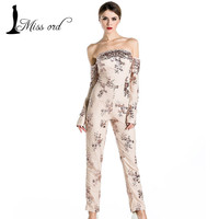 Big Sale on Stunning Missord Off-Shoulder Long Sleeve Sequin Jumpsuit