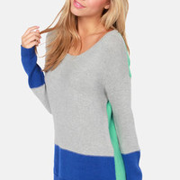 Olive & Oak With Flying Color Block Knit Sweater