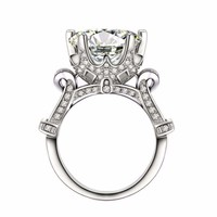 Luxury Elegant CZ Crystal Wedding Engagement Ring