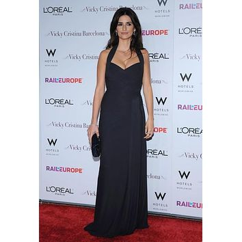 Penelope Cruz Black Halter Prom Formal Celebrity Dress Bridesmaid Dresses For Sale