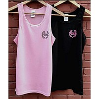 Victoria's Secret PINK Hip hop yoga movement: PINK: boot leisure vest Tagre™