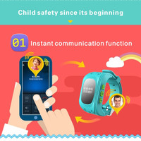 JH Anti Lost DT-Q50 OLED Child GPS Tracker SOS Smart Monitoring Positioning Phone Kids GPS Watch Compatible with IOS & Android