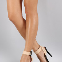 Liliana Two Tone Open Toe Heel