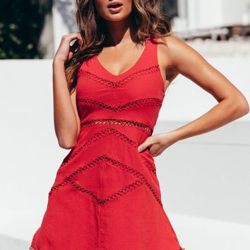 Numb To Love Dress Red