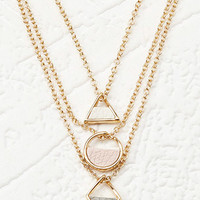 Geo Charm Layered Necklace