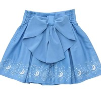 Sailor Moon 20th Anniversary Mini Skirt Pleated Skirt Big Back Bow Lolita Cute