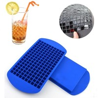 1 pc DIY Silicone Ice Cube Frozen Cube Container 160-Grids Ice Cube Tray Ice Cube Mold For Kitchen Bar Party Drinks