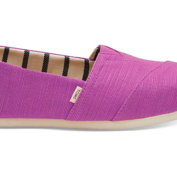 TOMS - Venice Collection Red Plum Heritage Canvas Women's Classics Slip-Ons