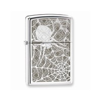 Zippo Hidden Spider High Polish Chrome Lighter - Engravable Gift Item