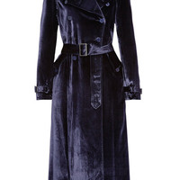 Fleur Du Mal - Crushed-velvet trench coat