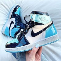 Nike Air jordan 1 AJ 1 Men's shoes high-top sneakers female students breathable basketball shoes sneakers