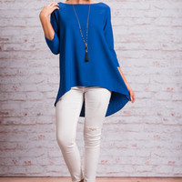 Looking Lovely Tunic, Blue
