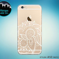 Henna Art Flowers Cute Clear Rubber Case for iPhone 7 6s 6 Plus SE 5s 5 5c iPod
