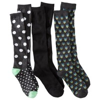 Xhilaration® Juniors 3-Pack Knee High Socks - Assorted Colors/Patterns One Size Fits Most