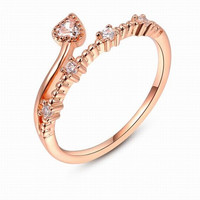 Fashion Flower Rattan 18K Rose Gold Plated Punk Retro Finger Ring Women Engagement Wedding Band Bride Rings Diamond Crystal Jewelry Gifts